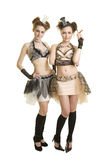 Twee meisjes het staing royalty-vrije stock afbeelding