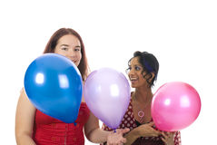 Twee meisjes op de partij Royalty-vrije Stock Foto