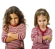 Twee meisjes in ruzie Stock Afbeelding