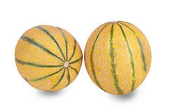 Twee meloenen Royalty-vrije Stock Foto