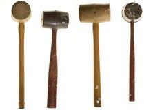 Twee meningen, twee houten hamers Royalty-vrije Stock Foto