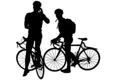 Twee mens op fietsen Royalty-vrije Stock Foto's