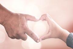 Twee menselijk handenteken Royalty-vrije Stock Afbeelding