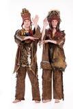 Twee Mensen in de Kleding van de Maskerade royalty-vrije stock fotografie