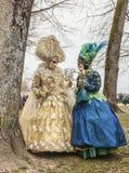 Twee Mensen het Vermomde Bespreken Royalty-vrije Stock Foto