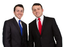 Twee mensen in kostuums royalty-vrije stock fotografie
