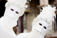Twee mensen in maskers in Venetië Carnaval Royalty-vrije Stock Fotografie