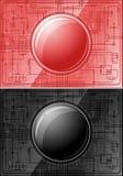 Twee Microchips met knopen Stock Afbeelding