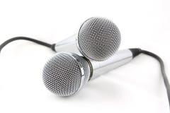 Twee microfoons Royalty-vrije Stock Afbeelding