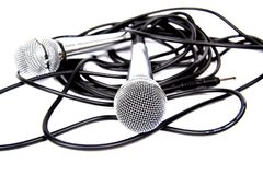 Twee microfoons. Royalty-vrije Stock Afbeelding