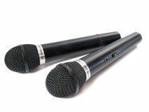 Twee microfoons Royalty-vrije Stock Foto's