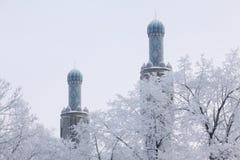 Twee minaretten Royalty-vrije Stock Afbeelding