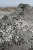 Twee moddervulkaan in het Nationale Park van Gobustan Stock Afbeeldingen