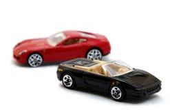 Twee modelleren sportwagens Stock Foto
