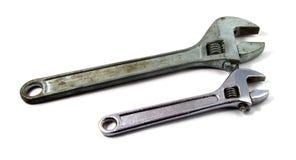 Twee moersleutels van de verschillende grootte Royalty-vrije Stock Afbeelding