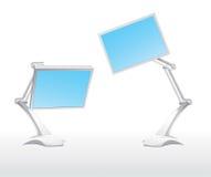 Twee monitors Stock Foto's