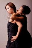 Twee mooie Japanse vrouwen stock foto's