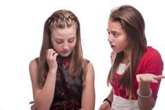 Twee mooie jonge tieners Stock Foto