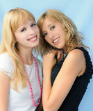 Twee mooie meisjes Stock Foto