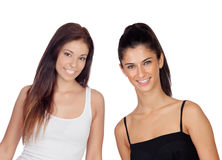 Twee mooie meisjes Royalty-vrije Stock Fotografie