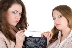 Twee mooie meisjes Stock Afbeelding