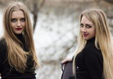 Twee mooie meisjes met blondehaar Royalty-vrije Stock Foto
