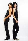 Twee mooie modellen Stock Foto's