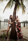 Twee mooie vrouwen Stock Foto's