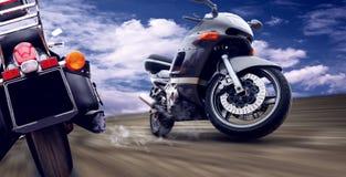 Twee motorfietsen Royalty-vrije Stock Afbeeldingen