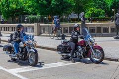 Twee motorfietsen Stock Fotografie