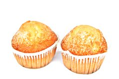 Twee muffins Royalty-vrije Stock Afbeeldingen