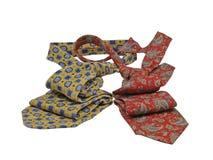 Twee multicoloured stropdassen. Geïsoleerd. Royalty-vrije Stock Foto