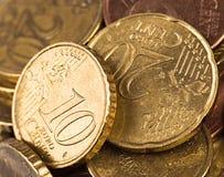 Twee muntstukken Stock Afbeeldingen