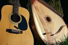 Twee muziekinstrumenten Stock Afbeelding