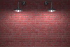 Twee Nachtelijke Lampen Royalty-vrije Stock Afbeelding