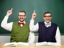 Twee nerds met een idee Stock Fotografie