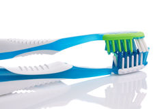 Twee nieuwe tandenborstels Royalty-vrije Stock Foto
