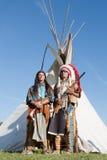 Twee Noordamerikaanse Indiërs Stock Afbeelding