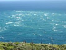 Twee oceanen komen in botsing royalty-vrije stock afbeeldingen