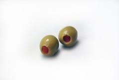 Twee olijven Royalty-vrije Stock Fotografie