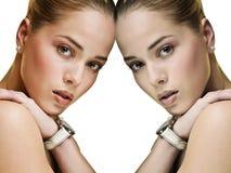 Twee omhoog Royalty-vrije Stock Afbeeldingen
