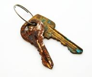 Twee onnodige sleutels Stock Foto