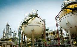 Twee opslag van het gebiedgas Stock Fotografie