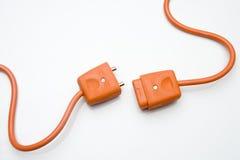 Twee Oranje Elektrische Stoppen stock afbeelding