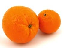 Twee Oranje vruchten Stock Foto's