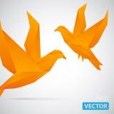 Twee origamivogels stock illustratie