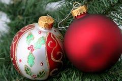 Twee Ornamenten stock foto's