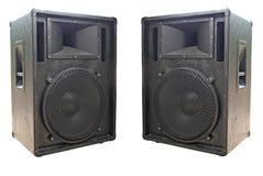 Twee oude concerto audiosprekers stock afbeeldingen