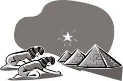 Twee oude Egyptenaren royalty-vrije illustratie