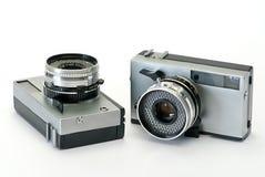 Twee oude fotocamera's Stock Foto